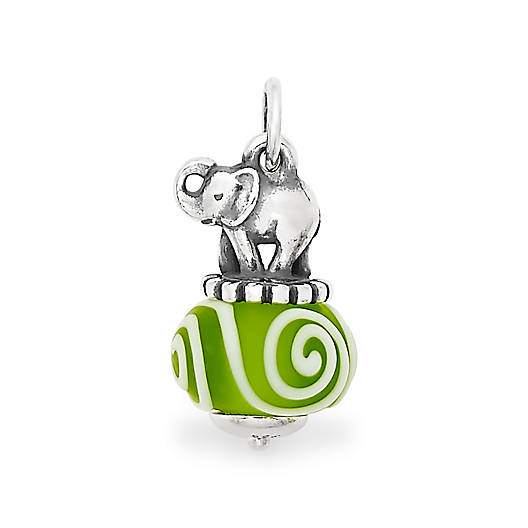 View Larger Image of Elephant Art Glass Charm