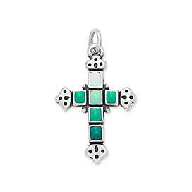Enamel Mosaic Cross Pendant