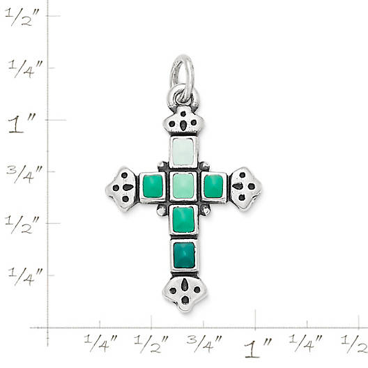 View Larger Image of Enamel Mosaic Cross Pendant