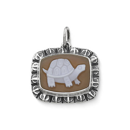 View Larger Image of Turtle Cameo Pendant