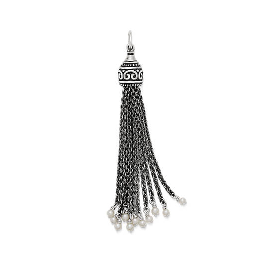 View Larger Image of Tassel Pendant with Cultured Pearls