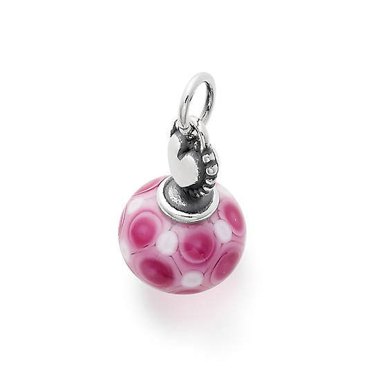 View Larger Image of Beaded Heart Art Glass Charm