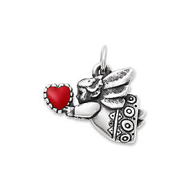 Love Angel Enamel Charm