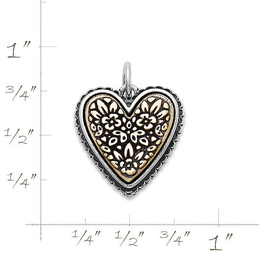 View Larger Image of Heirloom Heart Charm