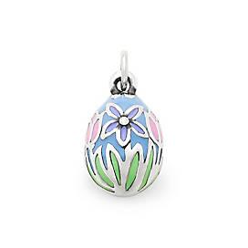 Enamel Floral Easter Egg Charm
