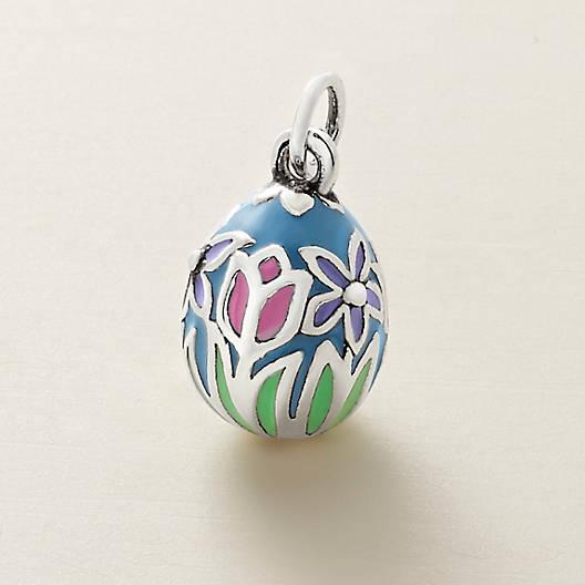 View Larger Image of Enamel Floral Easter Egg Charm