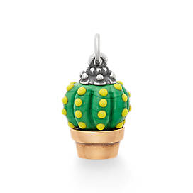 Barrel Cactus Art Glass Charm