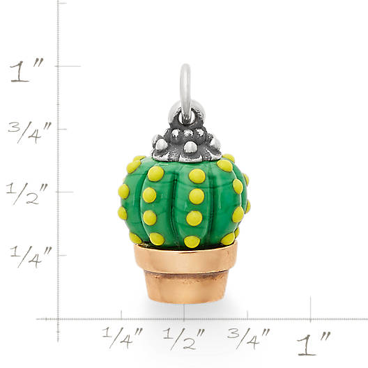 View Larger Image of Barrel Cactus Art Glass Charm