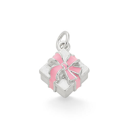View Larger Image of Enamel Pink Gift Box Charm