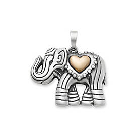 Adorned Elephant Pendant
