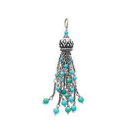 Tassel Pendant with Turquoise