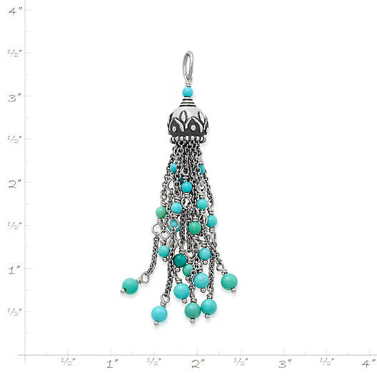 View Larger Image of Tassel Pendant with Turquoise
