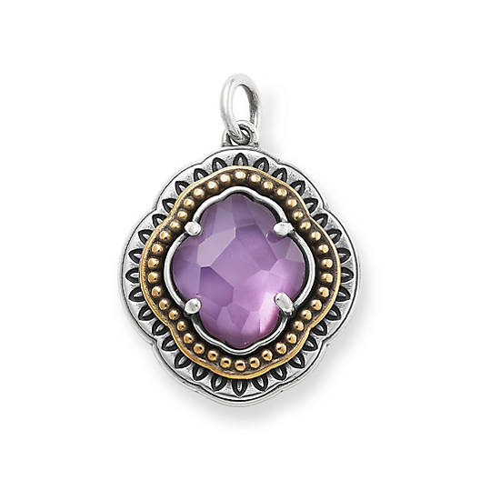 View Larger Image of Heirloom Quatrefoil Purple Triplet Pendant