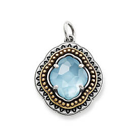 Heirloom Quatrefoil Blue Triplet Pendant