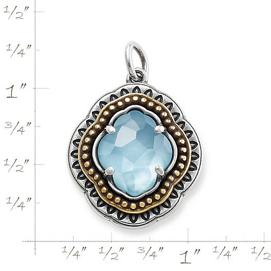 View Larger Image of Heirloom Quatrefoil Blue Triplet Pendant