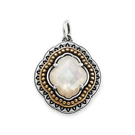 Heirloom Quatrefoil White Doublet Pendant