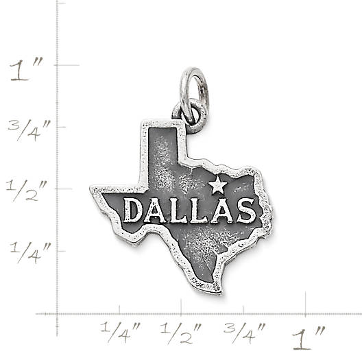 "View Larger Image of ""Dallas"" Charm"