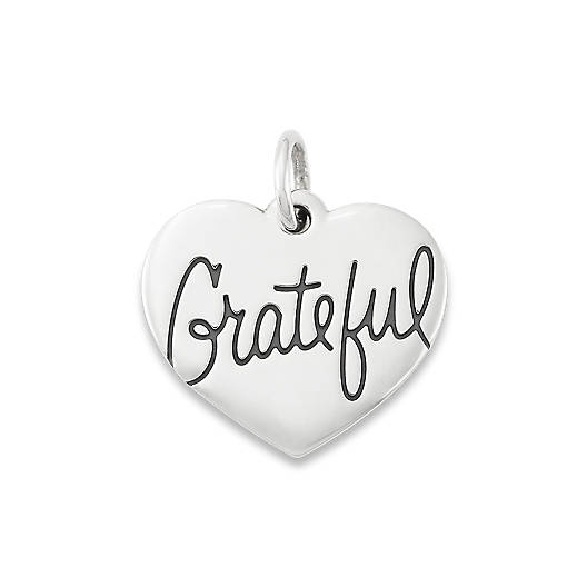 "View Larger Image of ""Grateful"" Heart Charm"