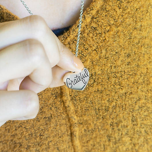 """View Larger Image of """"Grateful"""" Heart Charm"""