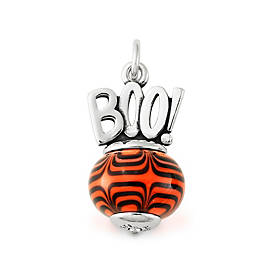 Halloween Art Glass Charm