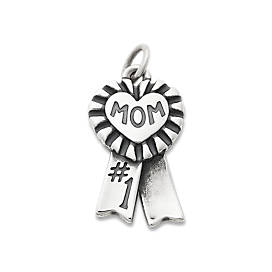 "Blue Ribbon ""Mom"" Charm"