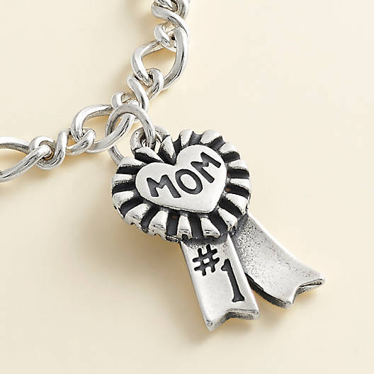 "View Larger Image of Blue Ribbon ""Mom"" Charm"