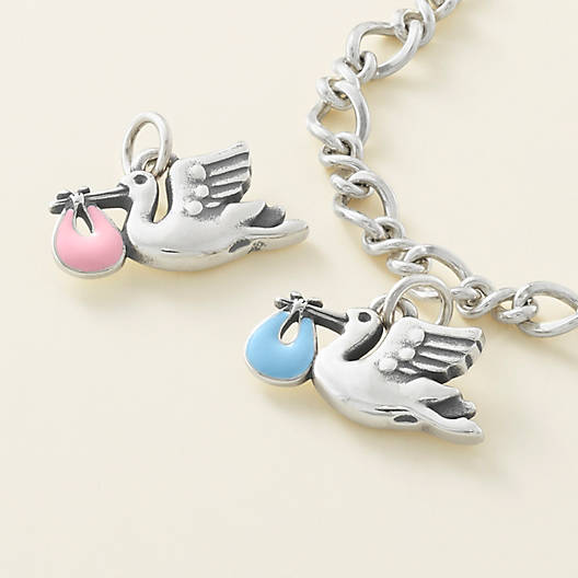 View Larger Image of Enamel Pink Special Delivery Charm