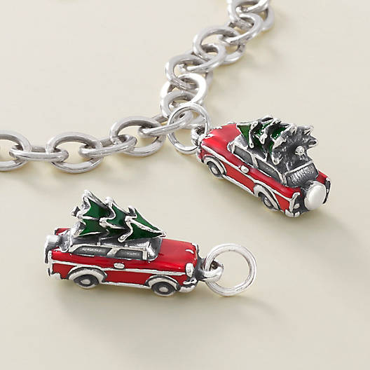 View Larger Image of Enamel Family Christmas Tree Charm