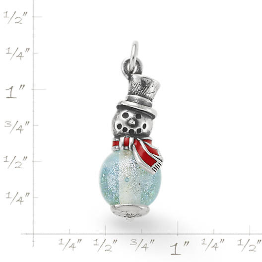 View Larger Image of Enamel Snowman Art Glass Charm