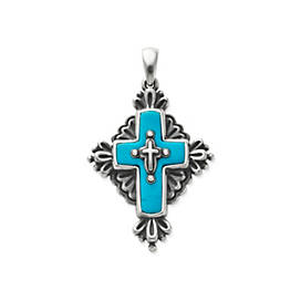 Folk Cross with Turquoise