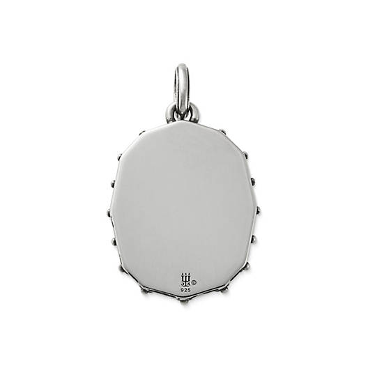 View Larger Image of Sculpted Crane White Doublet Pendant