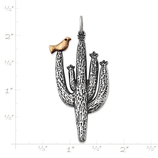View Larger Image of Saguaro Cactus with Bird Pendant