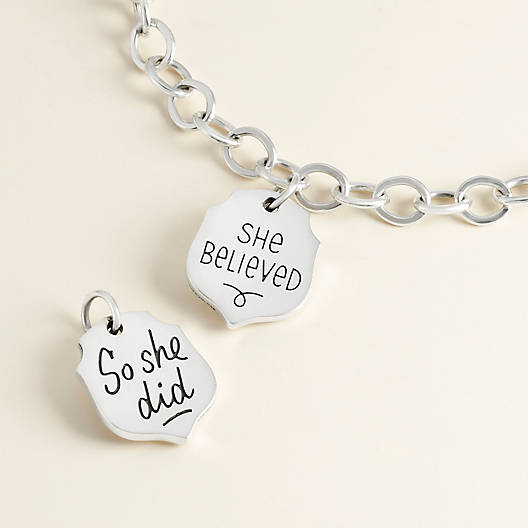 "View Larger Image of ""She Believed"" Charm"