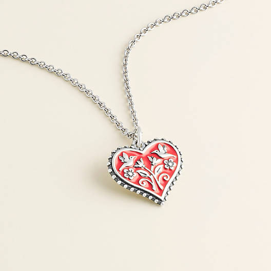 View Larger Image of Enamel Red Hearts in Bloom Charm