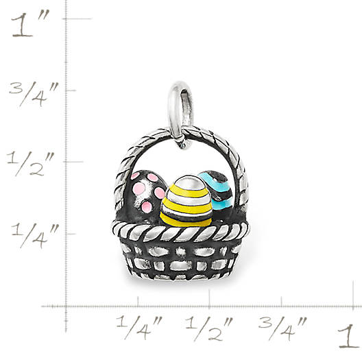 View Larger Image of Enamel Easter Basket Charm