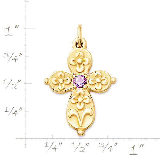 View Larger Image of Floret Cross with Amethyst