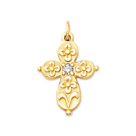 Floret Cross with Diamond