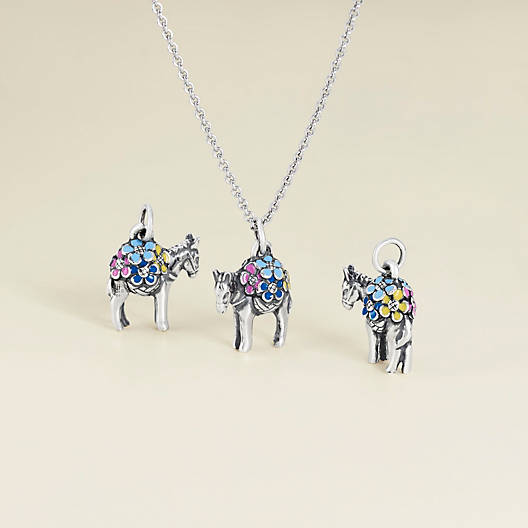 View Larger Image of Enamel Festive Donkey Charm