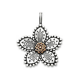 Beaded Festive Flower Pendant