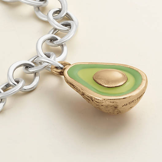 View Larger Image of Enamel Avocado Charm