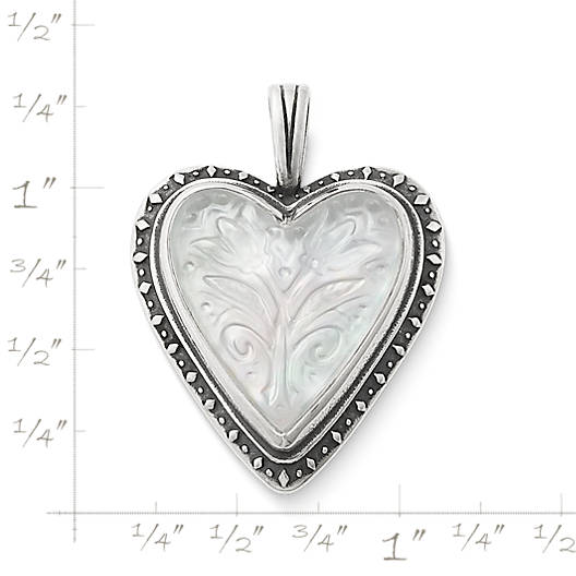 View Larger Image of Sculpted Heart and Tulips White Doublet Pendant
