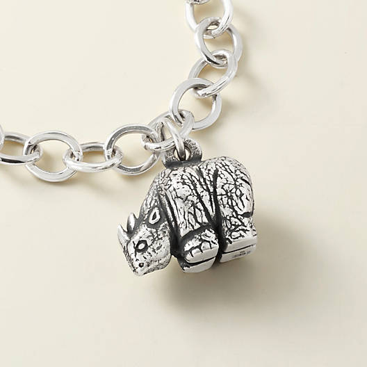View Larger Image of Rhinoceros Charm