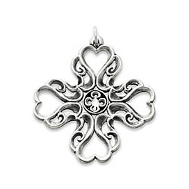 Lace Cross of Hearts
