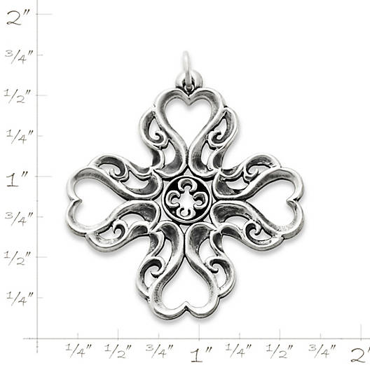 View Larger Image of Lace Cross of Hearts