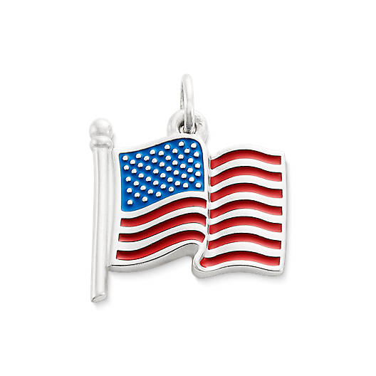 View Larger Image of Enamel American Flag Charm