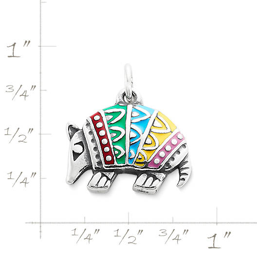 View Larger Image of Enamel Festive Armadillo Charm