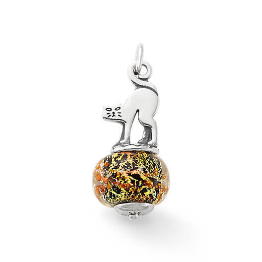 View Larger Image of Scaredy Cat Art Glass Charm