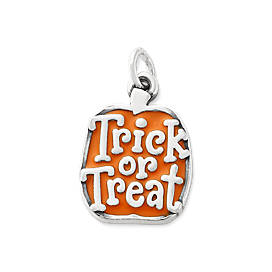 "Enamel ""Trick or Treat"" Pumpkin Charm"