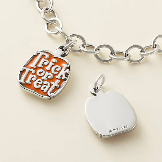"View Larger Image of Enamel ""Trick or Treat"" Pumpkin Charm"
