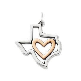 I Love Texas Pendant